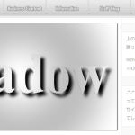 ホームページが浮き上がって見える影をつける-PS