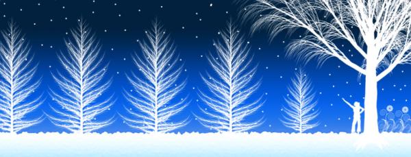 雪がブログやホームページに降ってくる