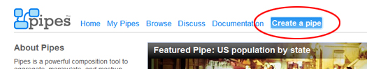 create a pipe