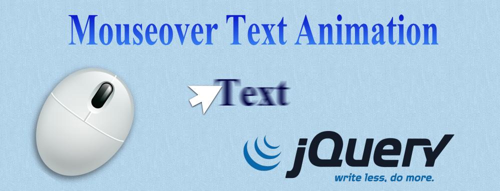 マウスオーバーでテキストが動く簡単なJqueryコード