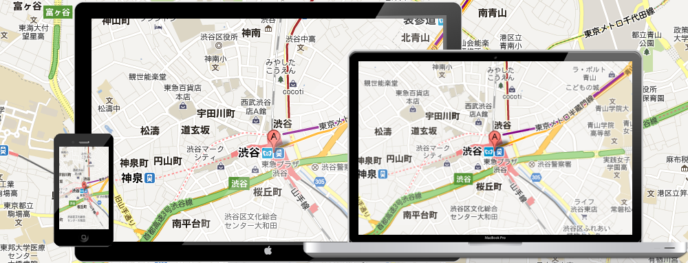 Google Mapのレスポンシブ ウェブ デザイン対策