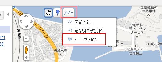 シェイプ図形で位置を表示