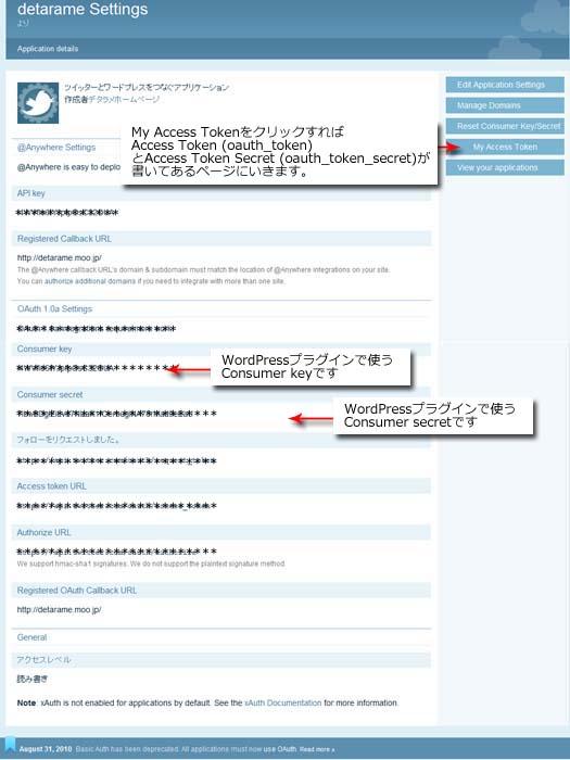twitterアプリケーションコード